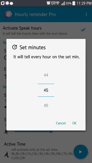 Hourly Talking Alarm Clock  Reminder Lite 2.9.8 Screen 2