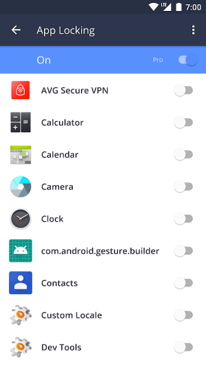 AVG Protection for Xperia 6.26.4 Screen 1
