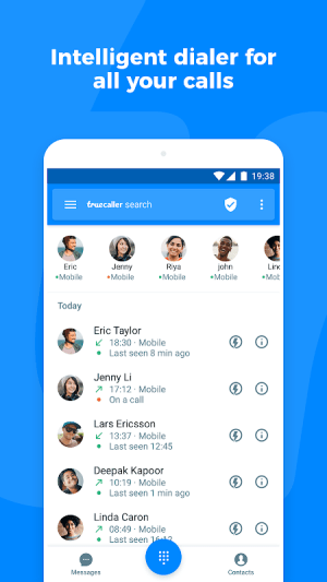 Android Truecaller: Caller ID, spam blocking & call record Screen 4