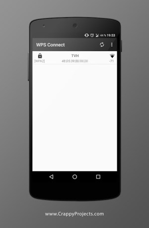 Android WPS Connect Screen 1