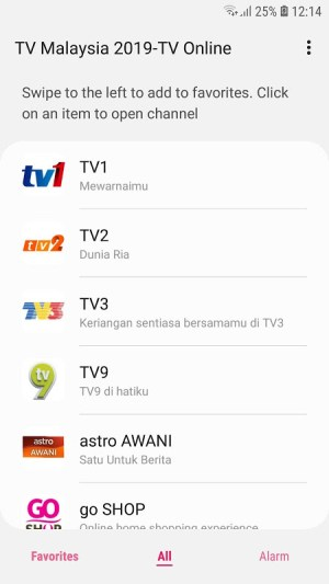 TV Malaysia 2019-TV Online 1.3.2 Screen 1