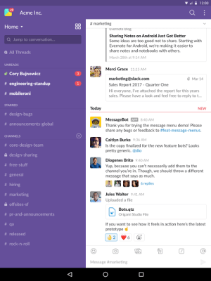 Slack 2.36.0 Screen 6