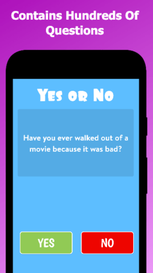 Yes or No 3.5.0 Screen 1