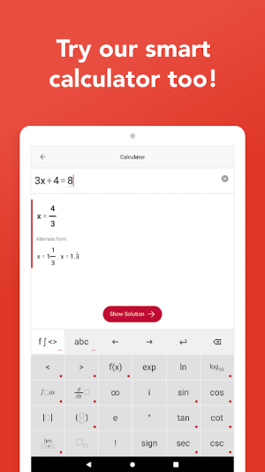 Photomath - Camera Calculator 5.0.2 Screen 2