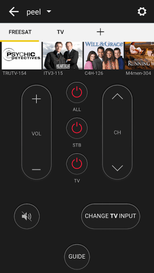 Peel Universal Smart TV Remote Control 10.7.1.3 Screen 2