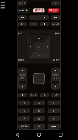Android VizControl - TV Remote Control for Vizio TV Screen 1