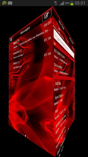 GO SMS Pro Theme Fire Flame 3.4 Screen 3