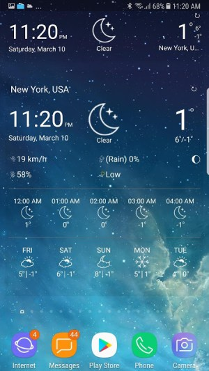 weather forecast 10.8 Screen 3