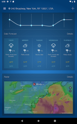 Weather Advanced for Android: Forecast & Radar 1.0.4.5 Screen 15
