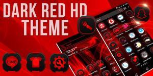 Dark Red Launcher Theme 2.4 Screen 3