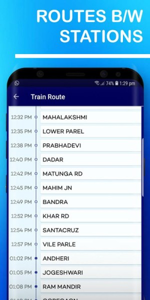 Mumbai Local Train Route Map & Timetable 1.37 Screen 6