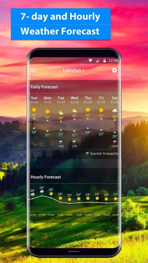 Android Local Weather Report Widget Screen 6