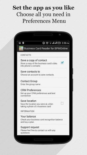 Android bpm'online CRM Business Card Reader Screen 11