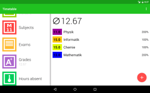 Android Timetable Screen 3