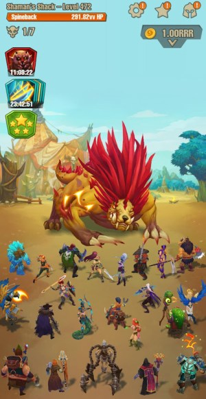 Android Idle game offline clicker: Juggernaut Champions Screen 7