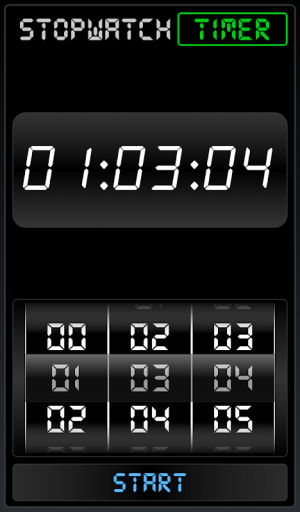 Android Stopwatch Timer Screen 2