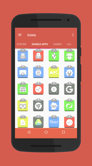 Android Clipboard-Icon Pack/Theme Screen 1