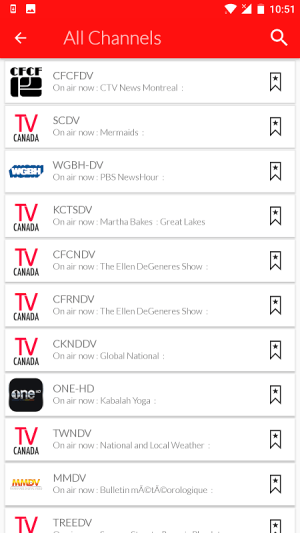 Android Canada Live TV Guide Screen 4