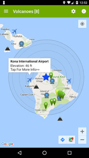 Volcanoes: Map, Alerts, Ash Clouds & News 1.5.1 Screen 3