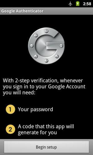 Google Authenticator 2.49 Screen 4