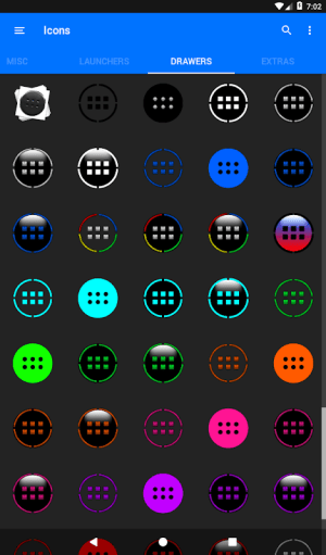 Light Blue Icon Pack Free 3.9 Screen 4