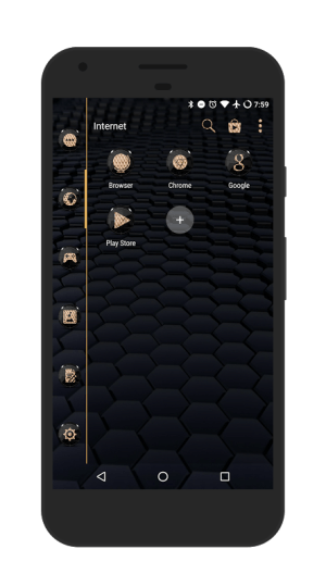 Android Black Gold Icon Pack Screen 4