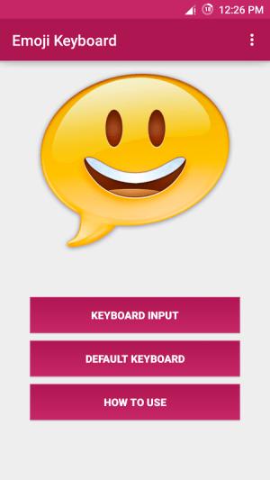 Android Emoji Keyboard Screen 1