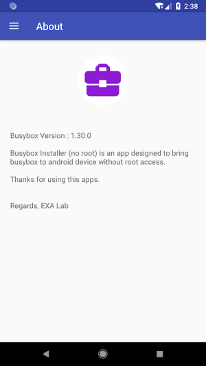 EXA Busybox Installer (no root) 2.00 Screen 3
