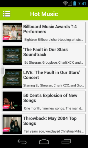 Android Music Tube Screen 2