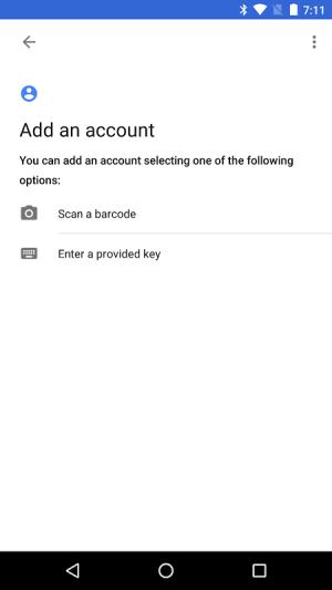 Google Authenticator 5.00 Screen 2