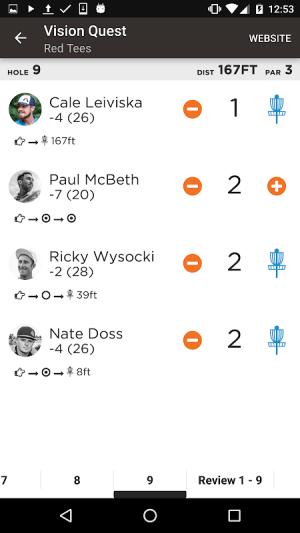 UDisc Live - Scorekeeper App 1.6.2 Screen 3
