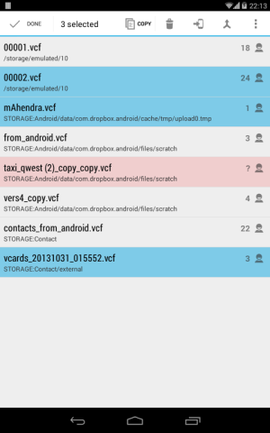Contacts VCF 3.0.0 Screen 14