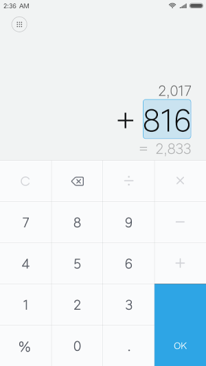 Mi Calculator 10.0.14 Screen 1