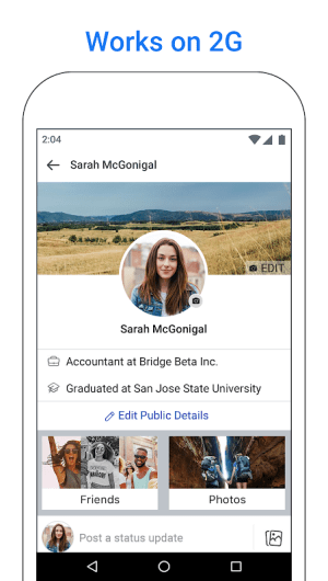 Facebook Lite 186.0.0.6.119 Screen 2