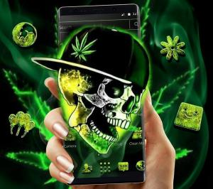 Green Weed Skull Theme 1.1.7 Screen 1
