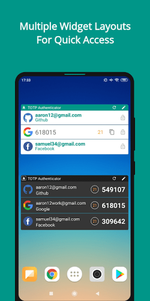 TOTP Authenticator – 2FA with Cloud Sync & Widgets 1.87 Screen 3
