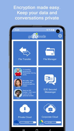 get2Clouds - Privacy & Security app 1.0.59 Screen 1