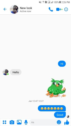 Fake Chat Conversation for messenger 7.17 Screen 1