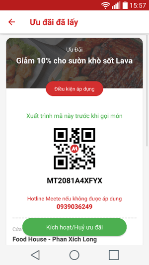 Meete - Food & Drink deal 4.5.2 Screen 4