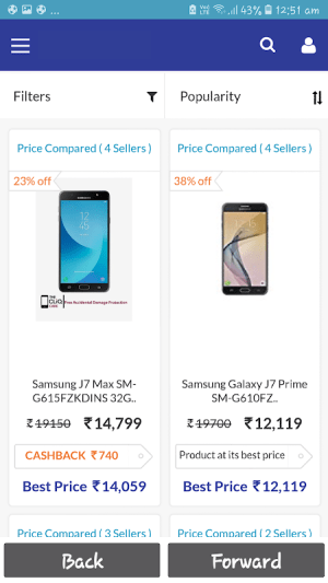 Android Phones Sales Screen 3