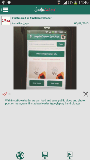 Android InstaLiked Saver for Instagram Screen 2