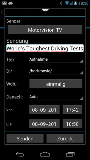 Android tiMote Screen 5