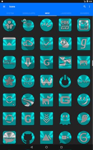 Cyan Icon Pack ✨Free✨ 3.8 Screen 5