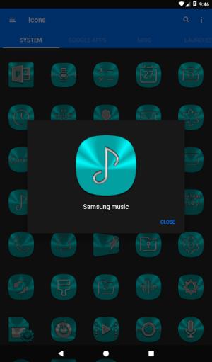 Cyan Icon Pack ✨Free✨ 3.8 Screen 22