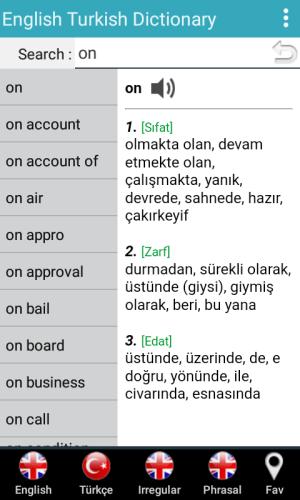 İngilizce Türkçe Sözlük 7.3 Screen 3