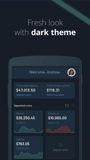 Android Celsius Network – Crypto Wallet: Earn Interest Now Screen 3