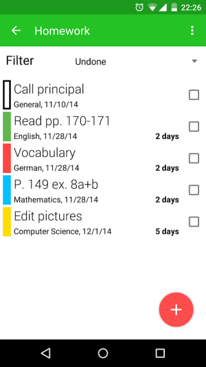 Android Timetable Screen 6