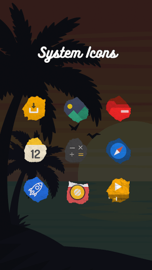 Icon Pack - Paper Shaped Original Icons 1.1.017 Screen 4