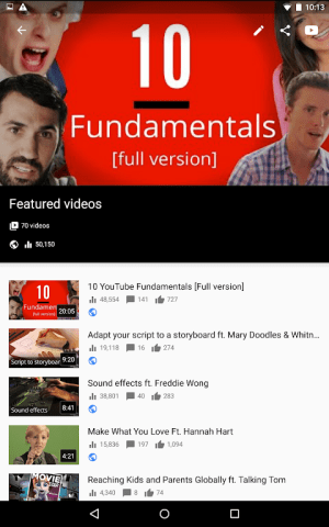 Android YouTube Studio Screen 14
