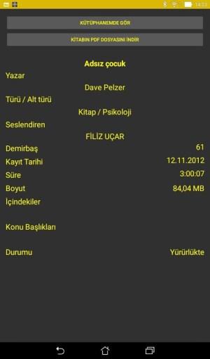 Android Sesli Kütüphane Screen 5
